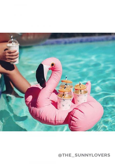 SunnyLife Inflatable Flamingo Drink Holder Float