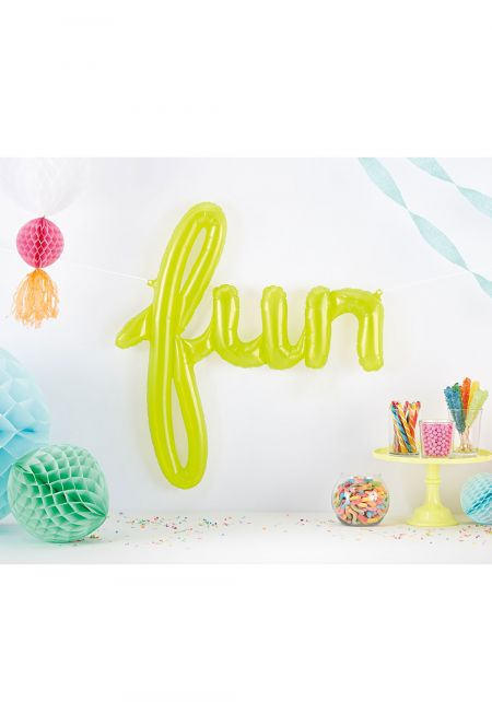 Lime Clear Fun Balloon Banner