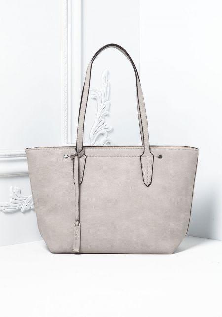 Sand Leatherette Classic Tote Bag