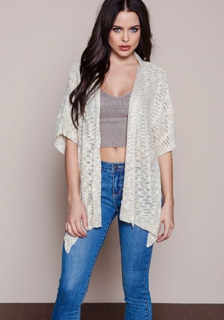 Textured Knit Butterfly Cardigan