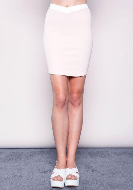 Blush Mod Color Block Skirt