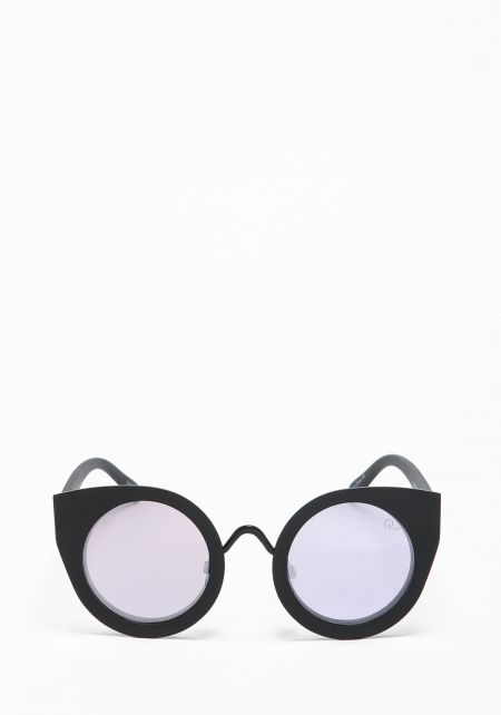 Quay Tainted Love Sunglasses in Black and Lilac