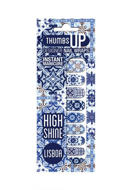 Lisboa Nail Wrap by Thumbs Up UK