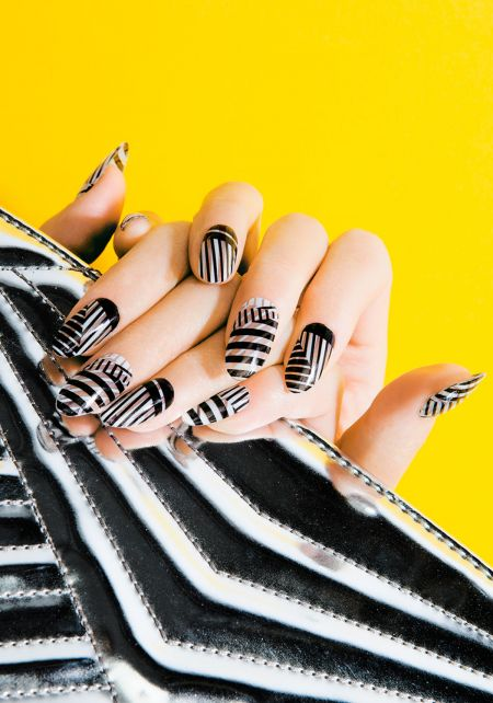Zebra Nail Wrap by Thumbs Up UK
