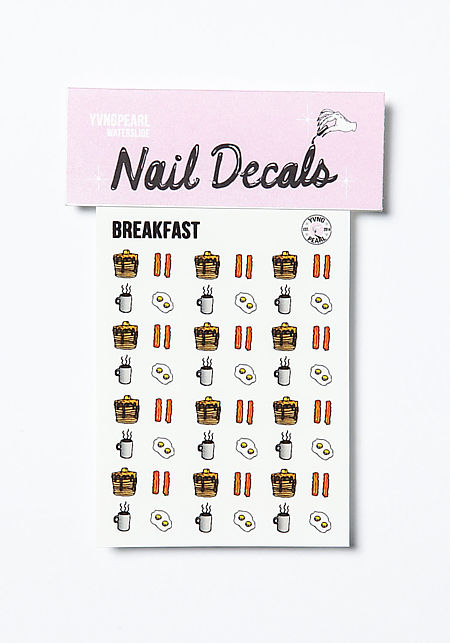 Breakfast Nail Decals