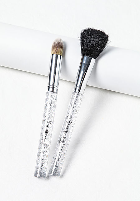 Silver Complexion Pair Brushes Box Set
