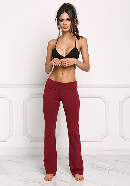 Burgundy Yoga Stretch Pants