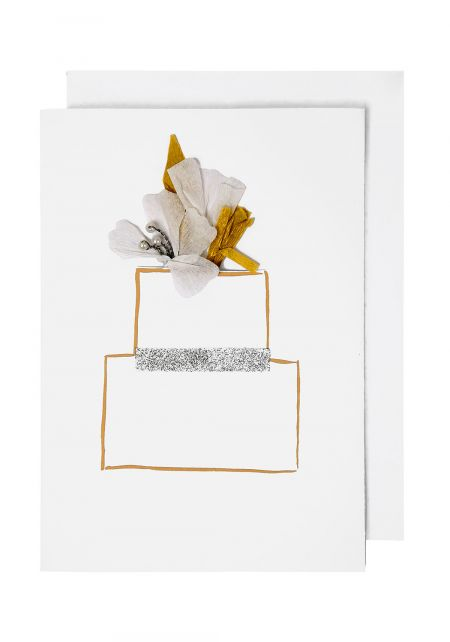 Flower Wedding Cake Card