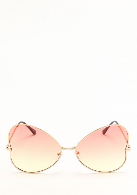 Zero UV Yellow Heart Shaped Sunglasses