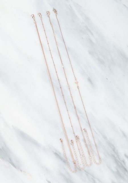 Rose Gold Assorted Delicate Chokers Set