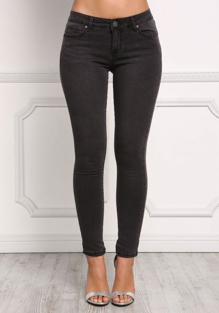 Black Low Rise Classic Skinny Jeans