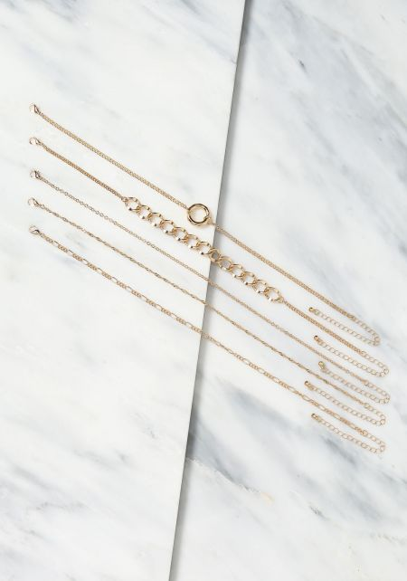 Gold Assorted Chain Choker Set