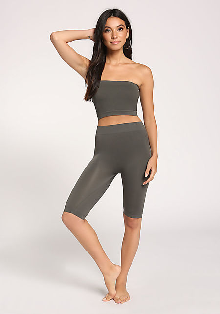 Dark Grey Cropped Leggings