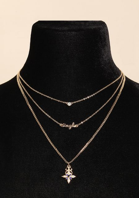 Gold Single Layered Pendant Necklace