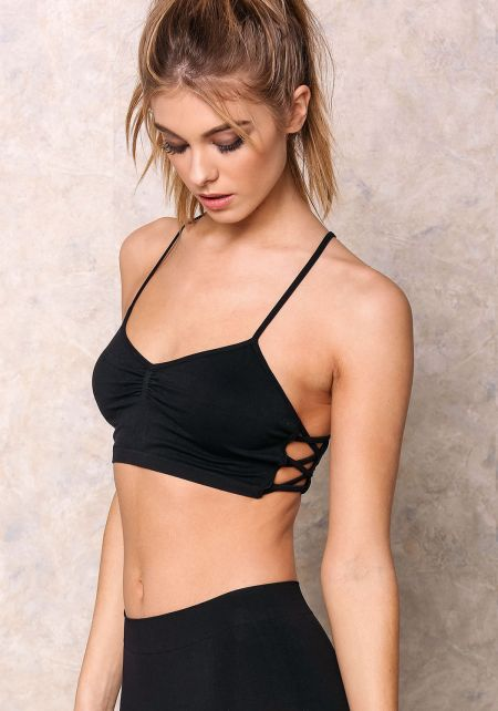 Black Active Cami X Sports Bra