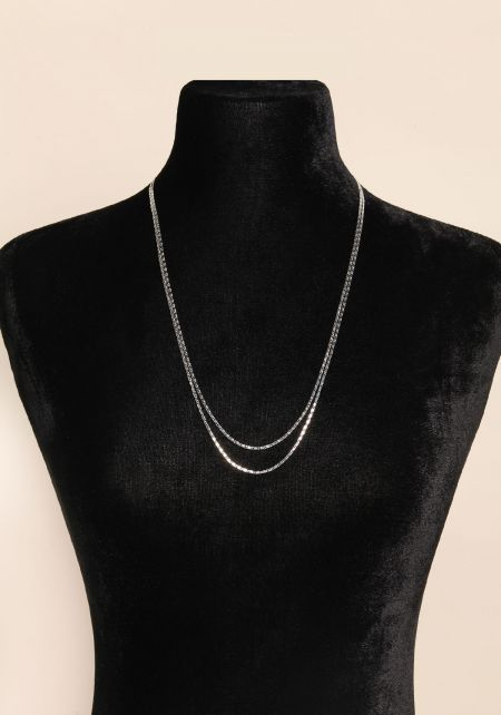Silver Two In One Layered Belly Chain & Necklace
