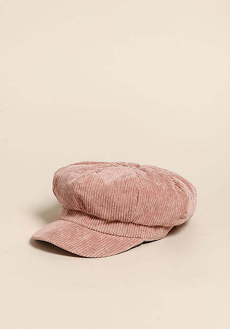 Dusty Pink Corduroy Cabby Hat