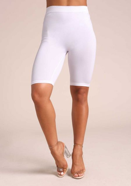 White Seamless Capri Leggings