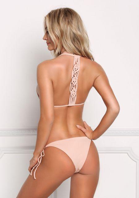 Blush Back Multi Strap Swimsuit Bikini Top