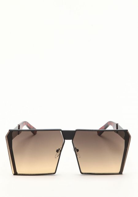 Zero UV Black Oversize Gradient Square Sunglasses