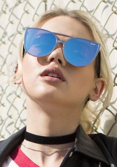 Quay Sorority Princess Sunglasses in Blue