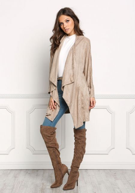Khaki Suedette Light Jacket