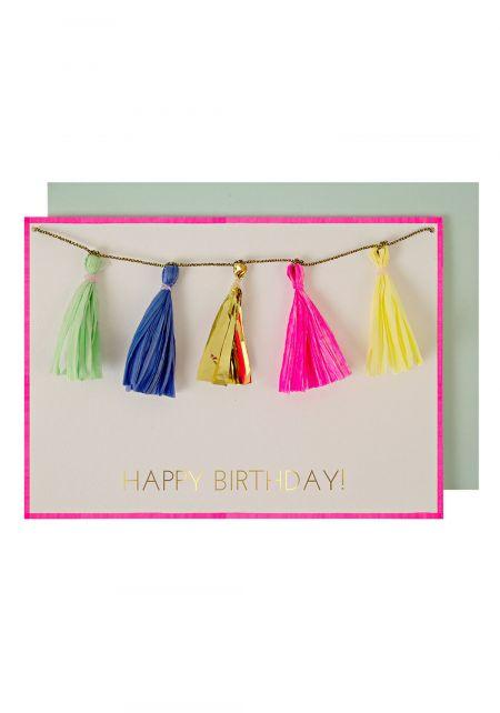 Tassel Birthday Card