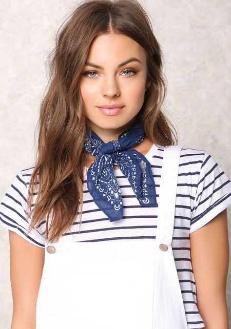 Navy Printed Bandana Set