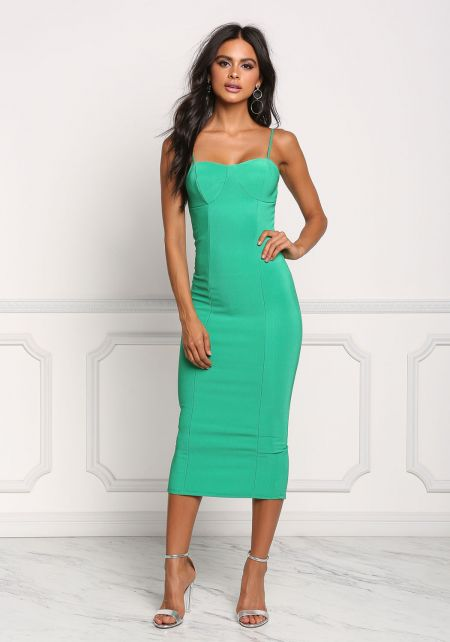 Green Midi Bodycon Dress