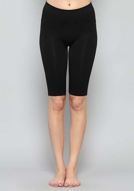 Black Seamless Capri Leggings