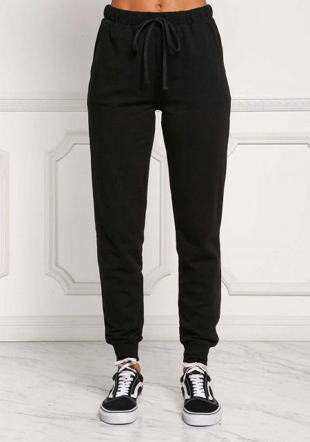 Black Drawstring Pocket Jogger Pants