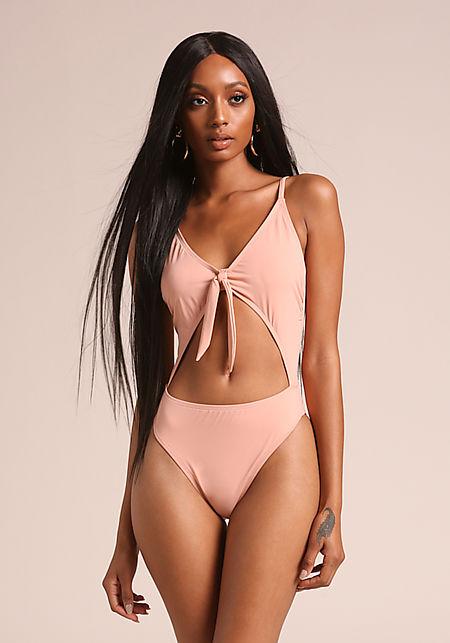 Cameo Front Tie Swimsuit Monokini
