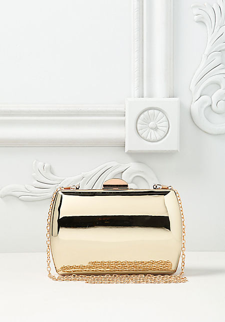 Gold Chrome Rounded Clutch