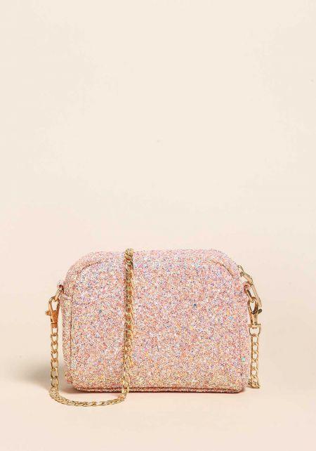 Pink Glitter Mini Clutch