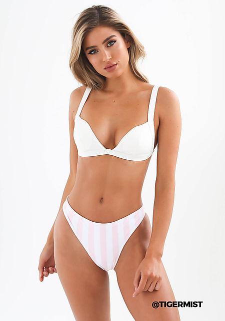 Tiger Mist Blush Stripe Swimsuit Bikini Bottoms