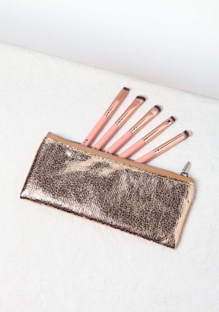 Rose Gold 5 Piece Brush Set