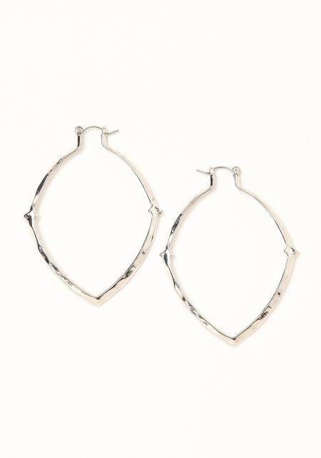 Silver Pointed Teardrop Earrings