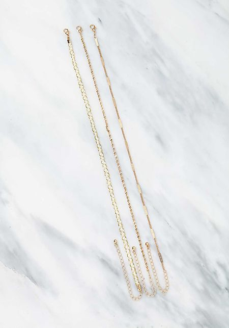 Gold Assorted Chain Chokers Set