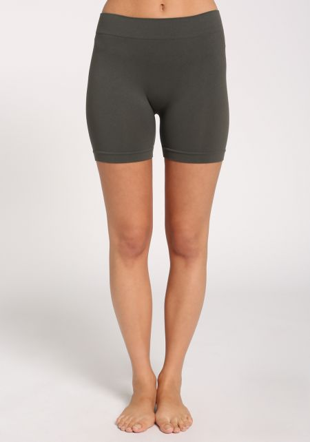 Dark Grey High Rise Biker Shorts