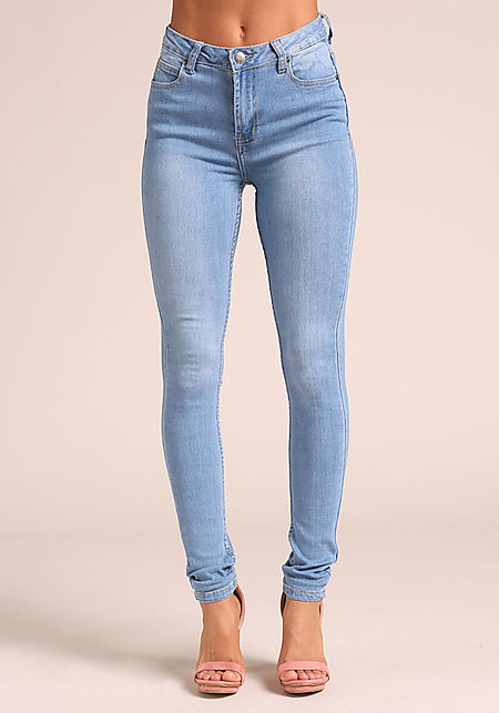 Light Blue High Rise Skinny Jeans