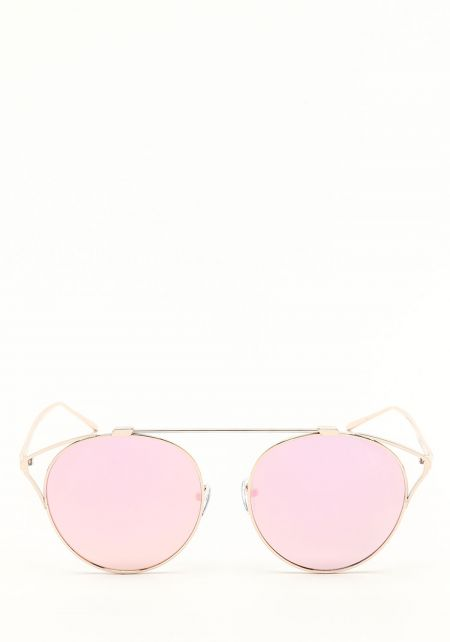 Zero UV Pink Wire Cat Eye Sunglasses