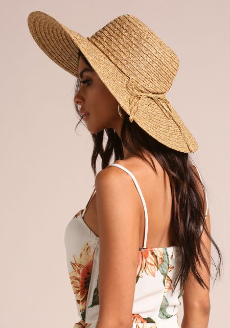 Natural Wide Brim Sun Hat