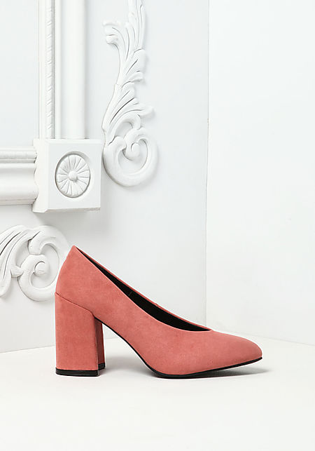 Dusty Rose Suedette Pointed Toe Heels