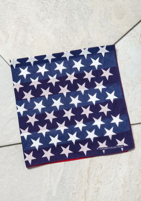 Blue and Red Flag Bandana
