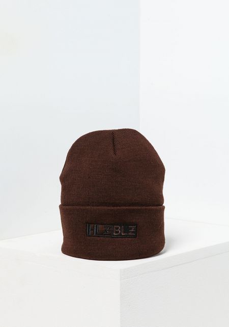 HLZBLZ Brown Logo Beanie