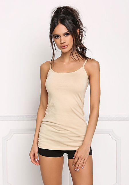 Taupe Basic Cami Tank Top