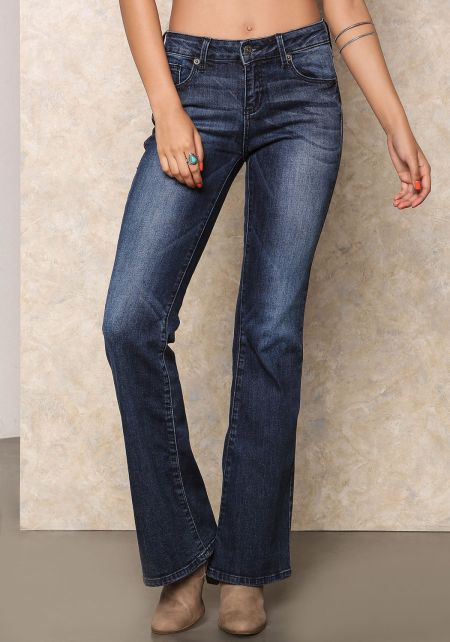 Dark Denim Flare Jeans