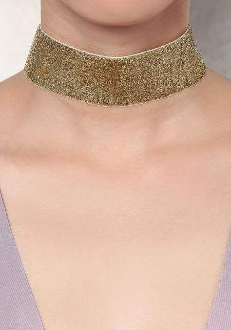Gold Thick Shimmer Choker