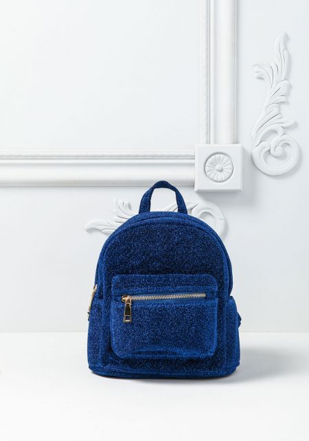 Cobalt Blue Shimmer Mini Backpack