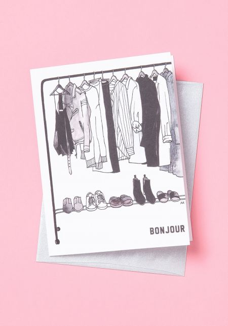 Chic Closet Blank Greeting Card
